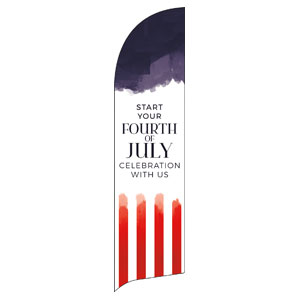 Fourth of July Paint Flag Banner