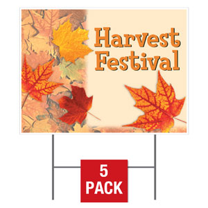 Fall Leaves Yard Signs - Stock 1-sided