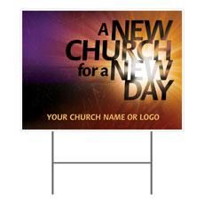 New Church Yard Sign