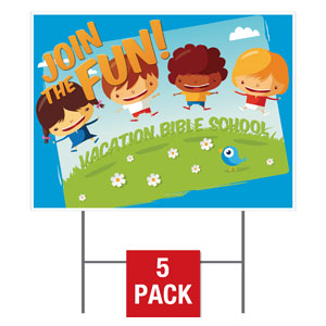 VBS Join The Fun Yard Signs - Stock 1-sided