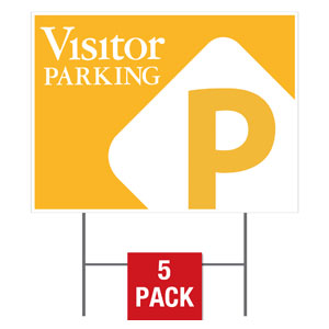 Visitor Parking Flag Yard Signs