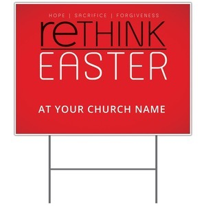 Rethink Easter Yard Signs