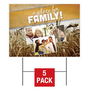 A Place for Family Yard Signs - Stock 1-sided