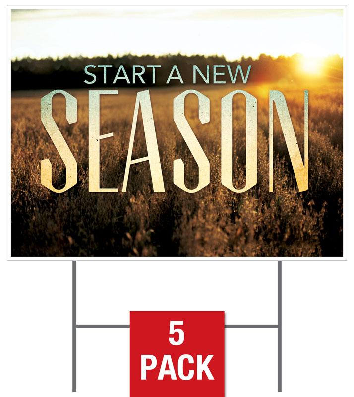 new season fall yard sign - church banners