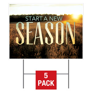 New Season Fall Yard Signs - Stock 1-sided