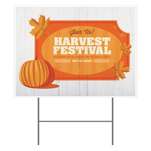 Join Us Harvest Festival Yard Signs