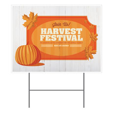 Join Us Harvest Festival Yard Sign