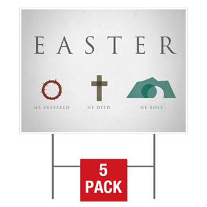 Easter Icons Yard Signs