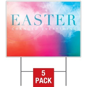 Easter Color Yard Signs - Stock 1-sided