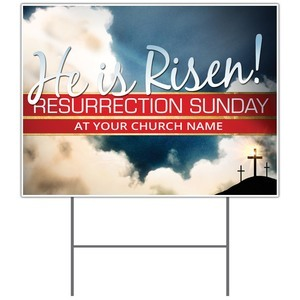 Risen Resurrection Yard Signs