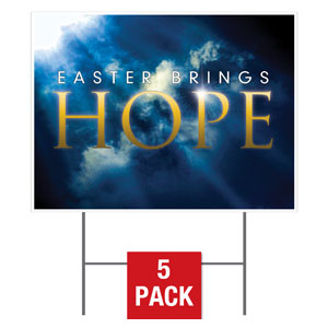 Hope Breaks Yard Signs - Stock 1-sided