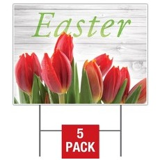 Easter Invited Wood Yard Sign