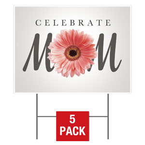 Mom Flower Yard Signs - Stock 1-sided