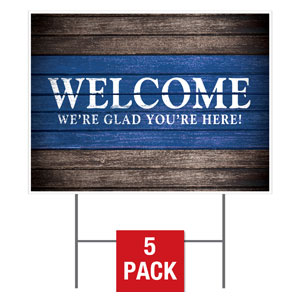 Rustic Charm Welcome Yard Signs