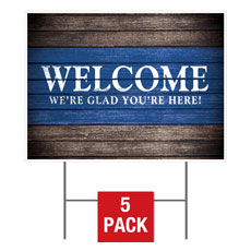 Rustic Charm Welcome Yard Sign