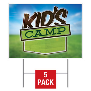 Blue Sky Kids Camp Yard Signs