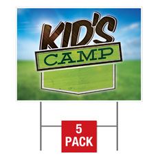 Blue Sky Kids Camp Yard Sign