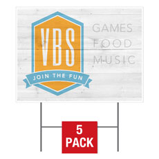 VBS Shield Yard Sign