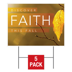 Fall Discover Faith Yard Sign