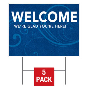 Flourish Welcome Yard Signs - Stock 1-sided