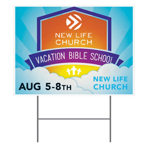 VBS Clouds Logo YardSigns
