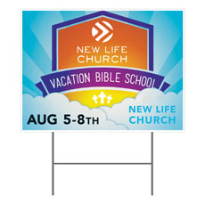 VBS Clouds Logo Yard Sign