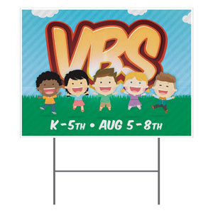 VBS Happy Kids Yard Signs
