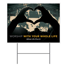 Worshiper Heart Yard Sign