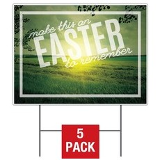 Easter to Remember Green Yard Sign