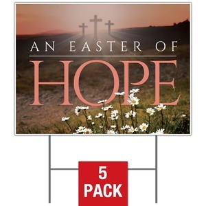 Easter Hope Daisy Yard Signs
