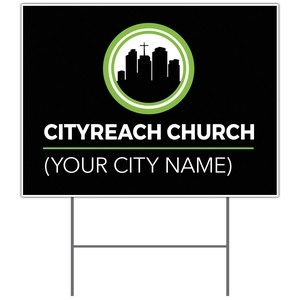 CityReach Black Yard Signs