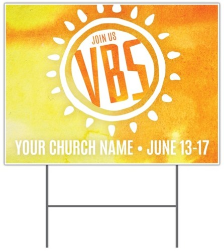 Vbs Sunny Yard Sign Church Banners Outreach Marketing