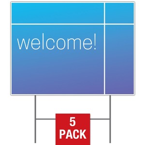 Color Wash Welcome Yard Signs