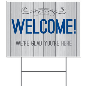 Painted Wood Welcome Yard Signs