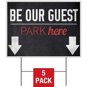Slate Park Guest Yard Signs - Stock 1-sided
