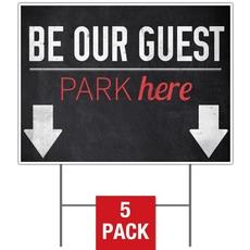 Slate Park Guest Yard Sign