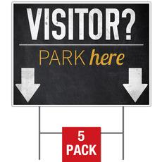 Slate Park Visitor Yard Sign