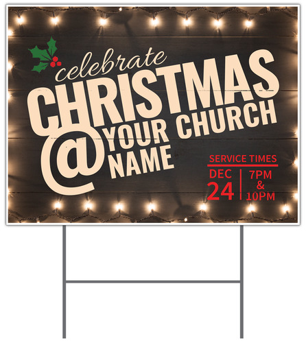Christmas At Lights Yard Sign Church Banners Outreach