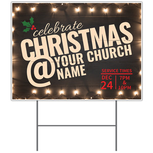 Christmas At Lights YardSigns