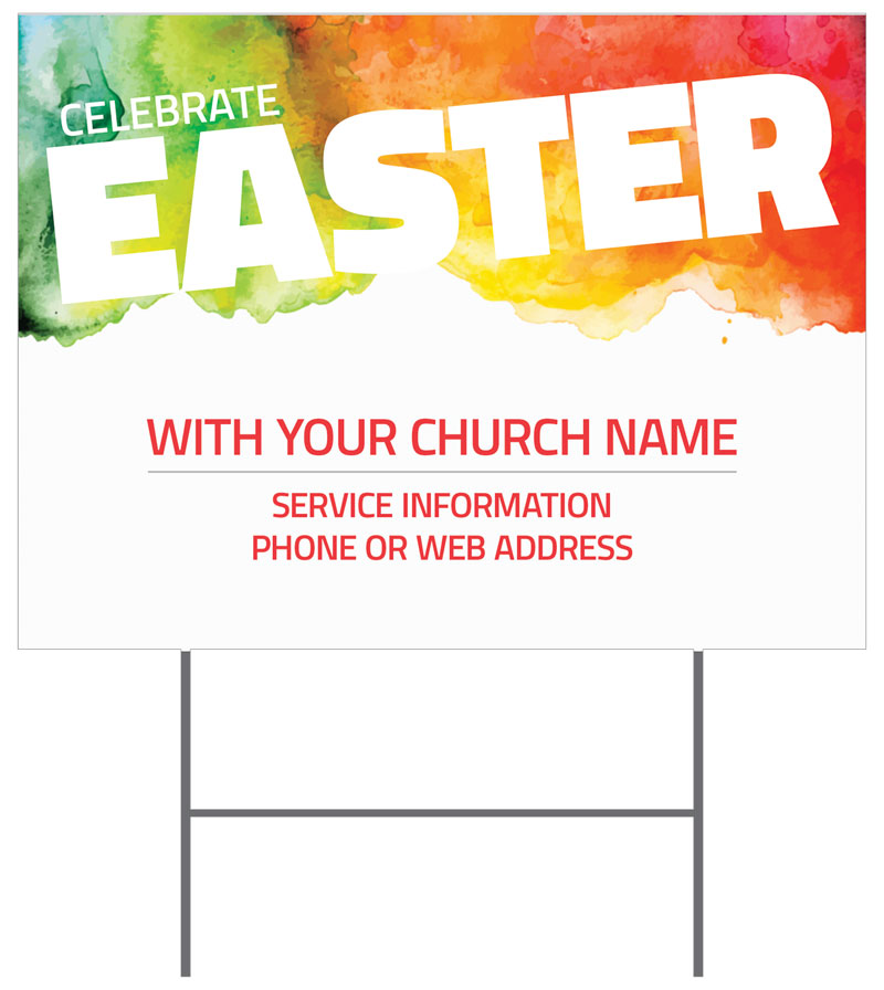 Yard Signs, Easter, Celebrate Easter Events, 18 x 24