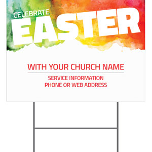 Celebrate Easter Events YardSigns