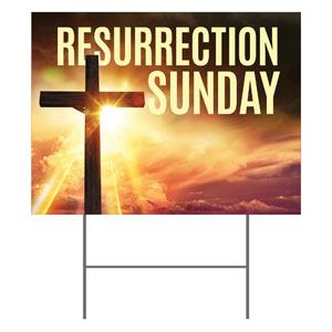 Resurrection Sunday Cross Yard Signs