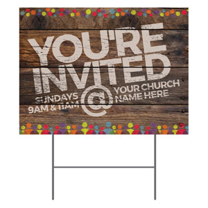 Shiplap Welcome Natural YardSigns