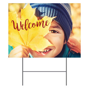 Leaf Kid Yard Signs - Stock 1-sided