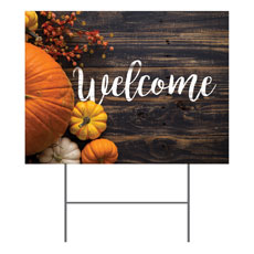 Pumpkins Youre Invited Yard Sign