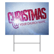 Christmas At Red Glitter Yard Sign