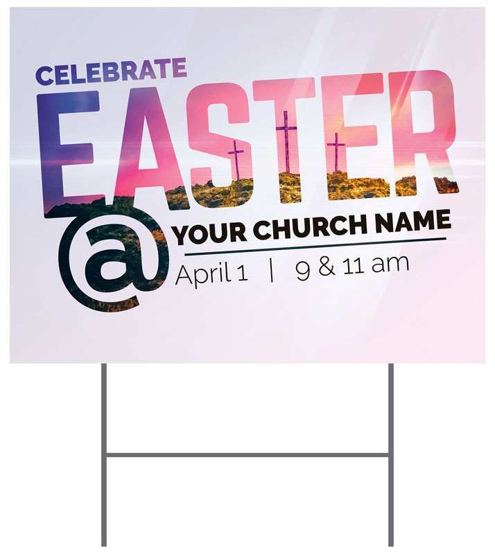 Yard Signs, Easter, Easter At Calvary, 18 x 24