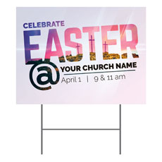 Easter At Calvary Yard Sign