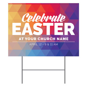 Geometric Bold Easter YardSigns