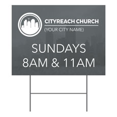 CityReach Skyline Yard Sign